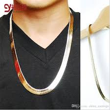 2019 fashion style gold snake bone keel fishbone hip hop 18k gold and silvery plated chains necklace jewelry for bar club male female from china earrings