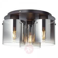 Pendel Leuchte Rauchglas Led Hänge Decken Lampe Licht Beth