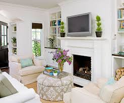 use neutral color throughout small living room