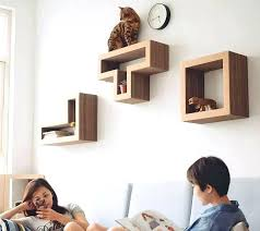 cubical floating wall shelves modern cat by sherpashelves on cubical