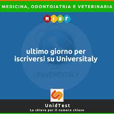 UniD Formazione - Oggi è l'ultimo giorno per concludere l'iscrizione su  Universitaly per i corsi di laurea di Medicina, Odontoiatria e Veterinaria  #unidtest #test2020 #testmedicina2020 #testodontoiatria2020  #testveterinaria2020 #testuniversitari