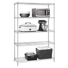 these are not my shelves this is a target photo my shelves are jam packed with a lot of food and a few miscellaneous kitchen items