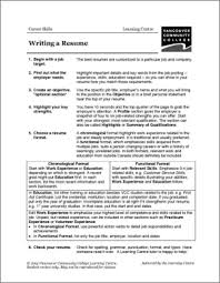 Resume Worksheets Worksheets For All Download And Share Worksheets