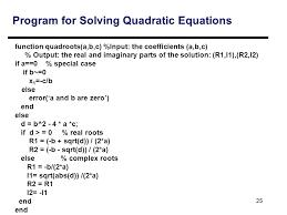 25 program for solving