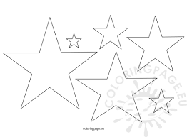 Small Picture Five Pointed star shape Coloring Page