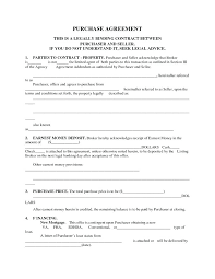 Purchasing Contracts Templates Mortgage Purchase Agreement Template