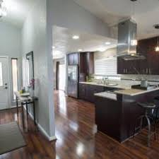 Entryway And Kitchen With Wood Laminate Flooring