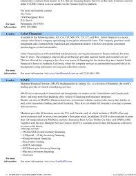 Lender Directory Listing - Pdf