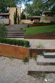 retaining wall ideas corten steel