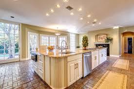 Beige Design Ideas Island Kitchen Decorating with Granite Counter ...