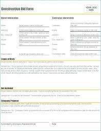 Free Construction Bid Proposal Template Download Lawn Care Bid Proposal Template Free Famous Example Image Templates
