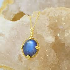 amali one of a kind circular moonstone pendant