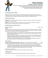 Art Resume Template Video Game Artist Free Resume Samples Blue Sky Resumes  Template