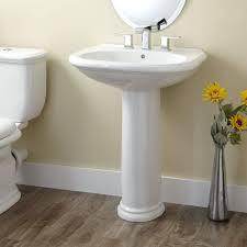 pedestal sink small bathroom sinks