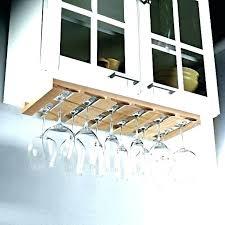 wine glass rack under cabinet holder medium size of storage ikea besta