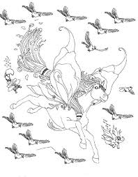Small Picture Bella the Magical Horse Flying with Birds Coloring Pages Batch