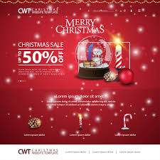 Free Christmas Website Templates Christmas Website Template With Snow Globe And Candle Vector