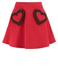 Women Clothing Love Moschino Denim Skirt Rosso Moschino