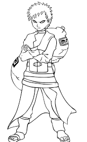 Small Picture Character Of Naruto Coloring Pages Gaara Cartoon Coloring pages