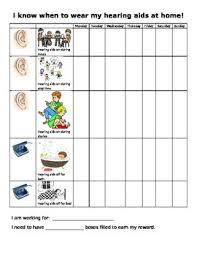 Hearing Chart Hearing Aid Home Use Reward Chart