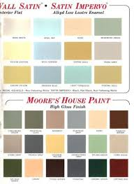 60 Colors From Benjamin Moores 1969 Paint Palette Gold