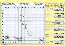 Typhoon Tracking Chart Vanuatu Cyclone Tracking Map