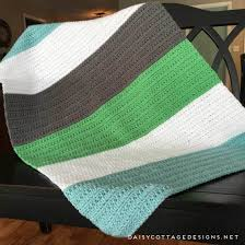 Crochet Baby Blanket from Daisy Cottage Designs & Crochet Blanket Pattern | Crochet Baby Blanket | Free Crochet Pattern |  Color Block Crochet Blanket Adamdwight.com