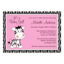 Zebra Print Baby Shower Invitations Zebra Print Baby Shower Pink Zebra Baby Shower Invitations