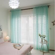 lace curtains kitchen window rustic home decor white sheer curtains flower pattern long tulle ds single