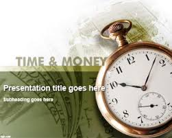 Free Money Ppt Templates Free Time Money Powerpoint Template