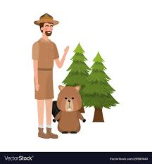 Fawn Design Canada Beaver Forest Animal And Ranger Canada Design