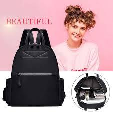 <b>2pcs</b>/<b>set</b> Fashion Women <b>Backpack</b> Set Black bagpack With Small ...