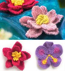 Knitted Flower Pattern Extraordinary Knitted Flower Pattern Free Knitting Patterns