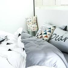 gray striped duvet cover brief stripes duvet cover set grey solid color bed sheet pillow case gray striped duvet cover