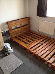 diy pallet bed frame picture king size white oak wood pallet platform bed with rectangle