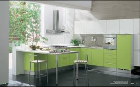 Kitchen Modern Green Modern Kitchen Quicuacom