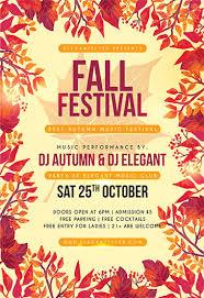 Fall Festival Flyers Template Free Autumn Fall Flyer Omfar Mcpgroup Co