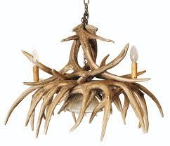 whitetail 9 large antler chandelier w downlight
