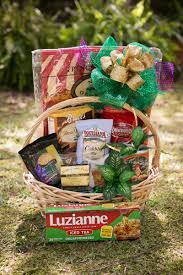 coffee tea and sweets gift basket large