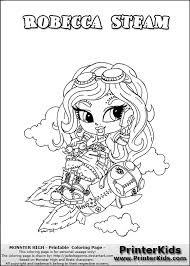 Small Picture Monster High Robecca Coloring Pages GetColoringPagescom
