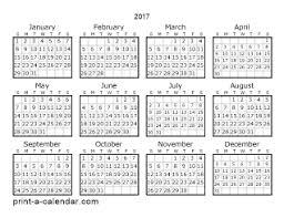 Download 2017 Printable Calendars