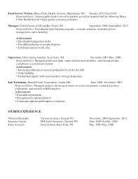 Resume Food Service Inspiration Ideas Of Great Resume Food Service Food Service Worker Resume