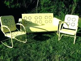 vintage patio furniture for metal lawn chairs retro outdoor sets antique porch glider