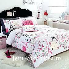 parisian duvet covers chic tower white pink grey single quilt cover set new bedding paris themed parisian duvet covers