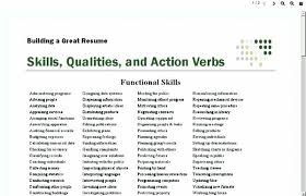 Action Words For Resumes Simple Action Words Use On A Resumes Active Verbs Resume Power For Project