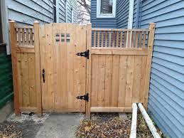 Craftsman style side fence & gate - by Douglas @ LumberJocks.com ~  woodworking community