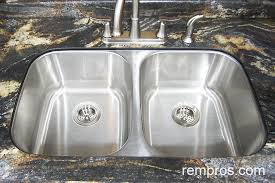 nice double bowl stainless steel sink undermount double bowl undermount stainless steel kitchen sink installed
