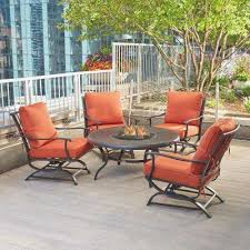 apartment patio furniture. Patio Furniture For Apartment Balcony Classic Fire Pit Sets Outdoor Lounge The Home Depot