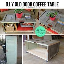 diy old door coffee table