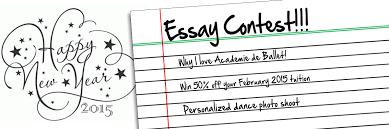 essay contest winner academie de ballet and dance center